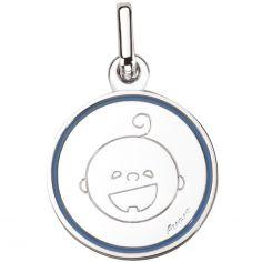 Médaille Petites Bouilles Garçon 16 mm (or blanc 750°)