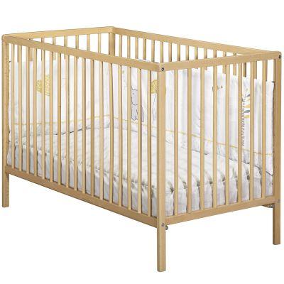 Lit à barreaux First naturel (60 x 120 cm)  par Baby Price