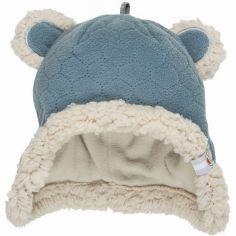 Bonnet ours bleu Botanimal (0-3 mois)