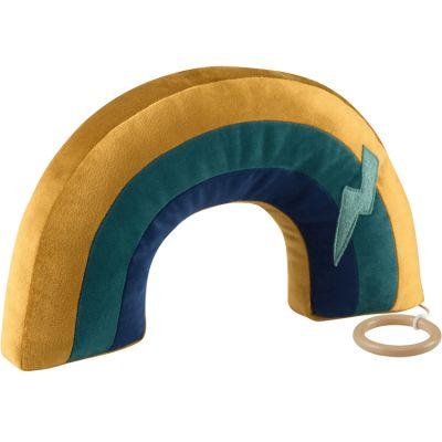 Arc-en-ciel musical en velours vert gold (mélodie au choix)  par Pouce et Lina