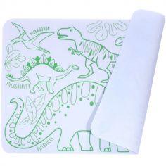 Mini tapis à colorier Dino