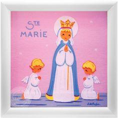 Tableau religieux Ste Marie Saint Patron personnalisable (15 x 15 cm)