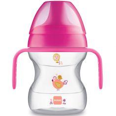 Tasse d'apprentissage avec anses poule rose (190 ml)