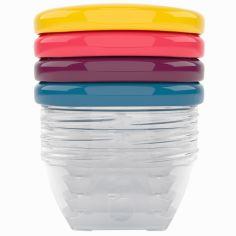 Lot de 4 Babybols avec couvercles de couleurs (120 ml)