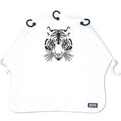 Protection pour poussette Baby Peace coton bio Tigre blanc