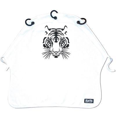 Protection pour poussette Baby Peace coton bio Tigre blanc Kurtis
