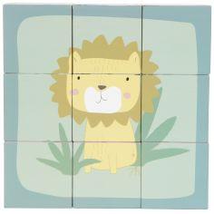 Puzzle cubes en bois Zoo (9 cubes)