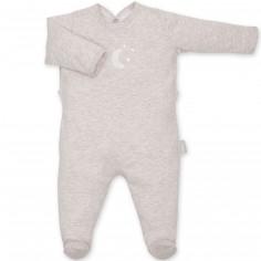 Pyjama léger jersey Bmini beige à points jerry (0-3 mois : 50 à 60 cm)