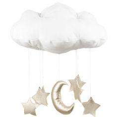 Mobile nuage blanc