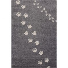 Tapis Empreintes gris (135 x 190 cm)