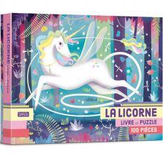 Livre et puzzle La licorne (100 pièces)