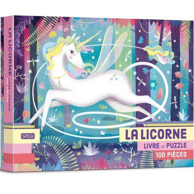 Livre et puzzle La licorne (100 pièces) Sassi Junior
