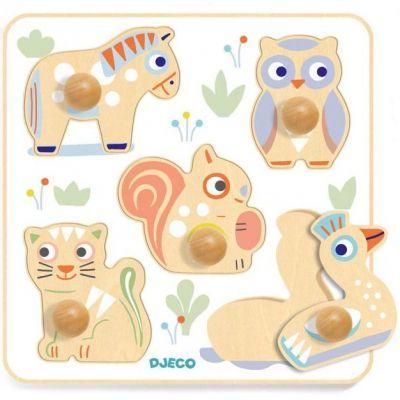 Puzzle à encastrement BabyPuzzi (5 pièces)  par Djeco