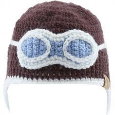 Bonnet en tricot aviateur marron (12-18 mois) - Bedford Road a01bcc6fb0d
