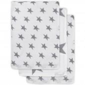 Lot de 3 gants de toilette hydrophiles Little star étoile gris anthracite - Jollein