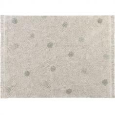 Tapis rectangulaire Hippy Dots olive (120 x 160 cm)