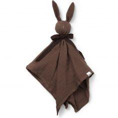Doudou plat lapin Blinkie Coco chocolat