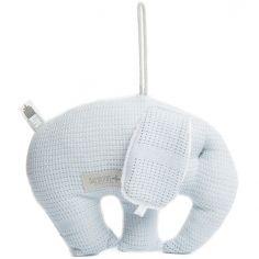 Coussin à suspendre éléphant en bambou bio New Vintage bleu