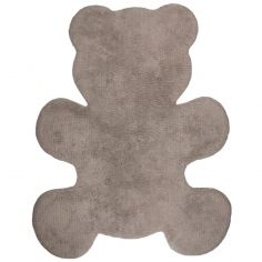 Tapis lavable ours Teddy taupe (80 x 100 cm)