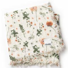 Couverture en coton froissé fleur Meadow Blossom (75 x 100 cm)