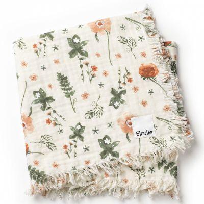 Couverture en coton froissé fleur Meadow Blossom (75 x 100 cm)  par Elodie Details