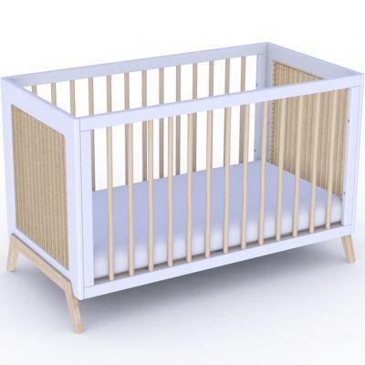 Pack duo lit bébé évolutif et côtés de lit Marelia blanc neige (60 x 120 cm) Théo