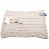 Attache sucette Cable Uni beige - Baby's Only