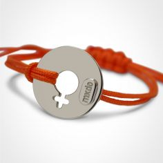 Bracelet ''Disco'' Fille (or blanc 750°)