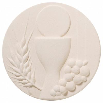 Plaque murale ronde Communion  par Centro Ave Ceramica