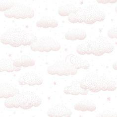 Papier peint intissé Stardust nuages roses (10 m)