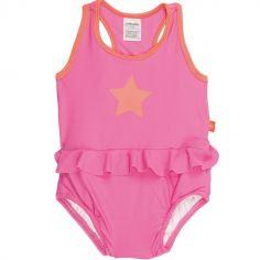 Maillot de bain 1 pièce Splash & Fun étoile rose et orange (36 mois)