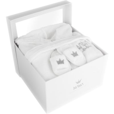 coffret cadeau naissance peignoir et pantoufles 2 pi ces par bambam. Black Bedroom Furniture Sets. Home Design Ideas