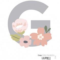Lettre adhésive Bloom G