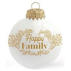 Boule de Noël Happy Family