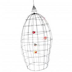 Grande cage volière décorative en fil de fer