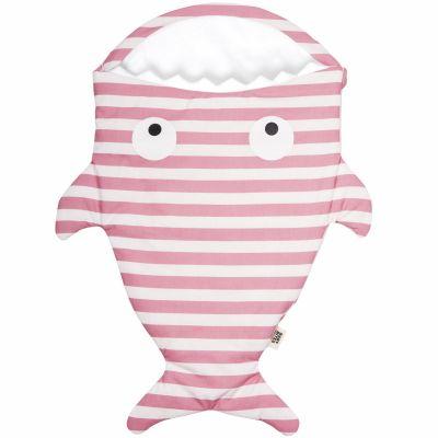 Nid d'ange léger Requin rayé rose  par Baby Bites