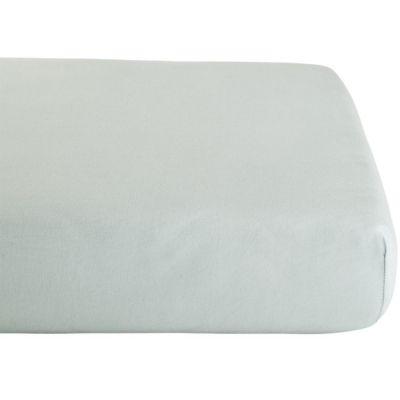 Drap housse en coton bio Gris perle (60 x 120 cm)  par Kadolis