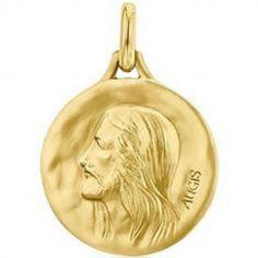 Médaille Christ sans épines personnalisable (or jaune 750°)