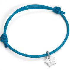 Bracelet Initiales avec étoile personnalisable (argent 925°)