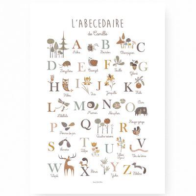 Affiche A3 Abécédaire de la nature (Personnalisable)  par Lutin Petit Pois