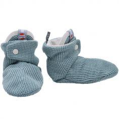 Chaussons en coton Ciumbelle Ocean bleu (0-3 mois)