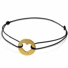 Bracelet cordon enfant Coeur (or jaune 750°)