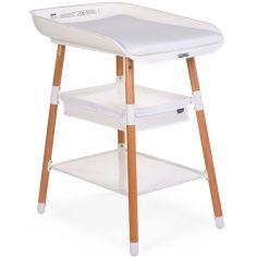 Table à langer Evolux naturel blanc