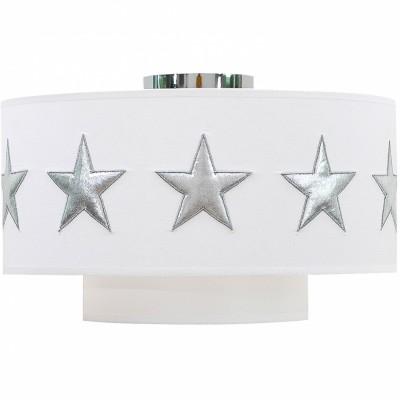 Abat-jour blanc Stars silver (diamètre 35 cm)  par Taftan