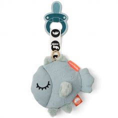 Doudou attache sucette poisson bleu Puffee