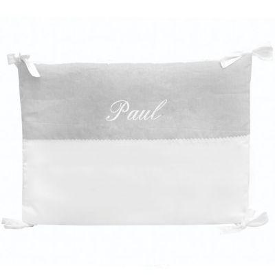 Tour de lit gris personnalisable (pour lits 60 x 120 cm)  par ANVIE