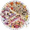 Puzzle d'observation Vive l'école (208 pièces) - Janod