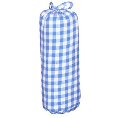 drap housse gros carreaux bleu clair 90 x 200 cm taftan. Black Bedroom Furniture Sets. Home Design Ideas