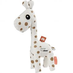 Hochet peluche Raffi la girafe blanc et doré (20 cm)