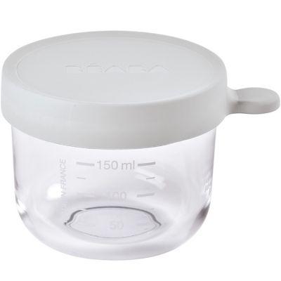 Pot de conservation en verre gris (150 ml)  par Béaba